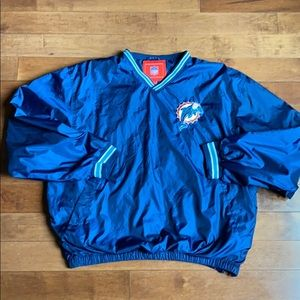 Miami Dolphins NFL Windbreaker with side zipper